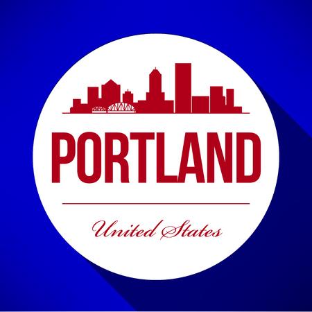 Vector Graphic Design of Portland City Skyline