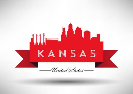 Vector Graphic Design of Kansas City Skyline