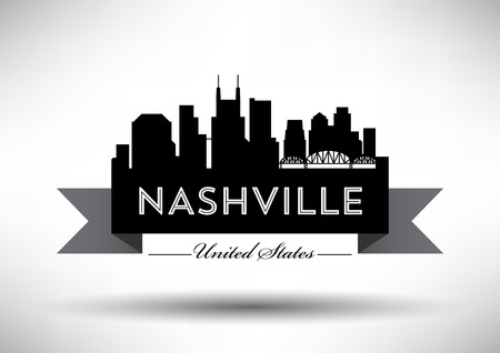Vector Graphic Design of Nashville City Skyline Stock Vector - 77926302