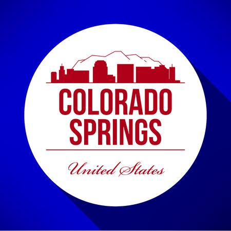 Vector Graphic Design of Colorado Springs City Skyline Stock Vector - 77926305