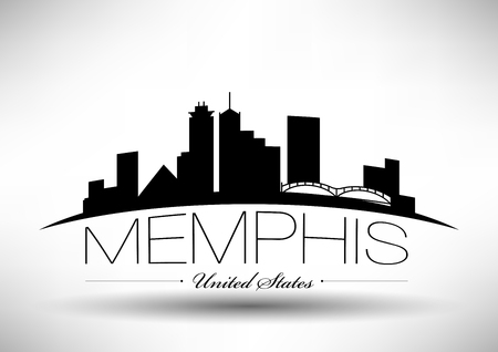 Vector Graphic Design of Memphis City Skyline