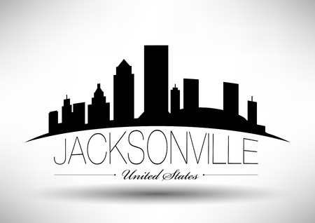 Vector Graphic Design of Jacksonville City Skyline Illustration