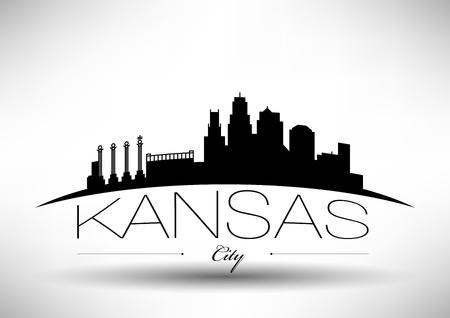 カンザス シティ スカイラインのベクトル グラフィック デザイン