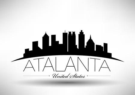 Vector Graphic Design of Atalanta City Skyline