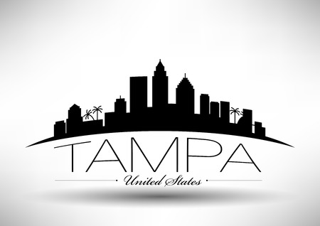 Vector Graphic Design of Tampa City Skyline