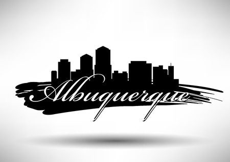 Vector Graphic Design of Albuquerque City Skyline