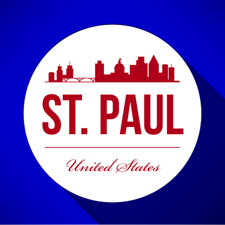 Vector Graphic Design of St. Paul City Skyline Illustration