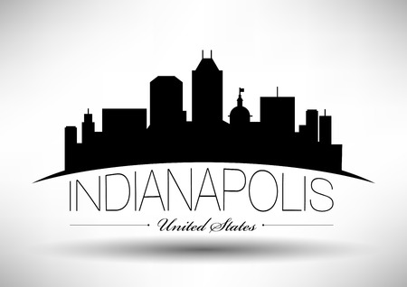 Vector Graphic Design of Indianapolis City Skyline