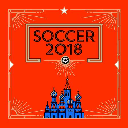 Football Cup 2018 Template Design Illusztráció