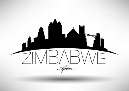 Vector Graphic Design of Zimbabwe City Skyline