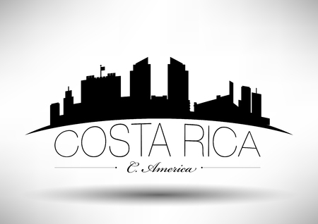 Vector Graphic Design of Costa Rica Skyline