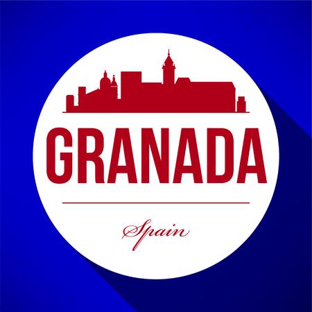 Vector Graphic Design of Granada City Skyline