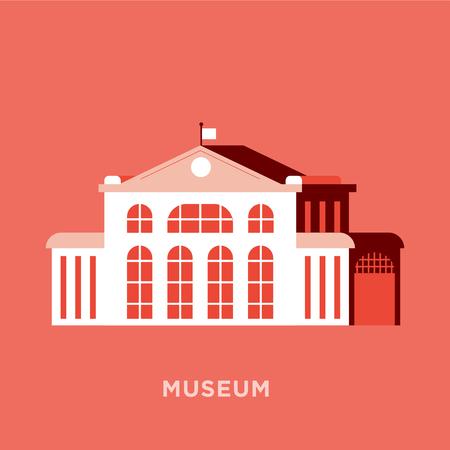 Flat Museum Icon Design 向量圖像