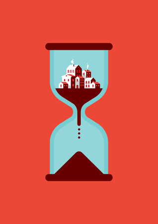 Timeless City Flat Icon Design