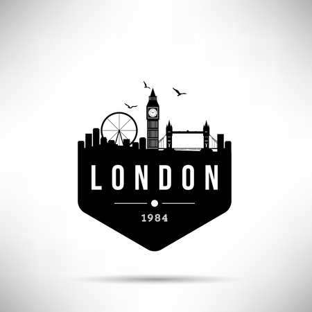 London City Modern Skyline Vector Template