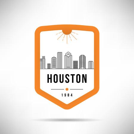 Houston City Modern Skyline Vector Template Illustration