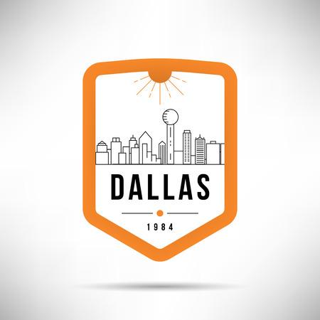 Dallas City Modern Skyline Vector Template