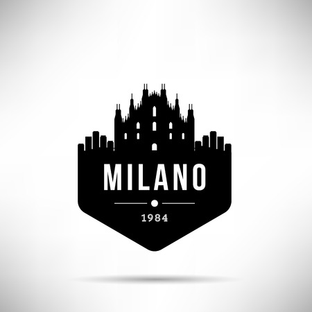 Milano City Modern Skyline Vector Template
