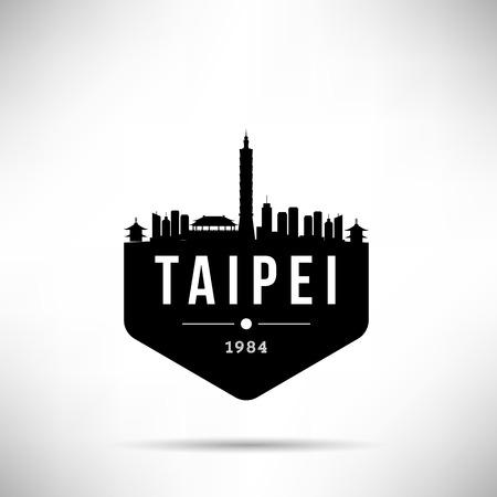 Taipei City Modern Skyline Vector Template Illustration