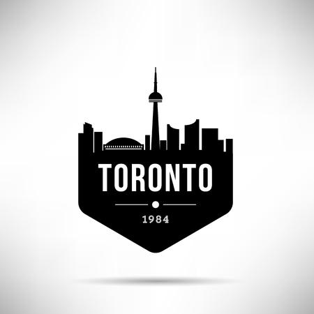 Toronto City Modern Skyline Vector Template