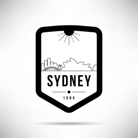 Sydney City Modern Skyline Vector Template Illustration