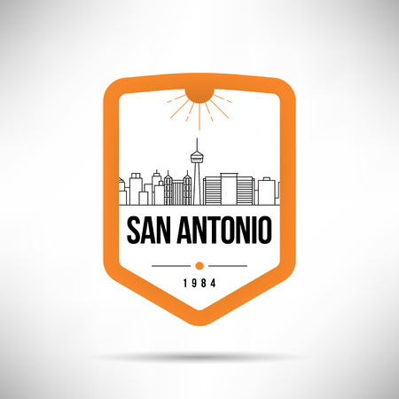 San Antonio City Modern Skyline Vector Template
