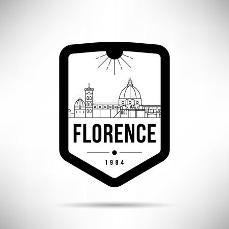 Florence Modern Skyline Vector Template Illusztráció