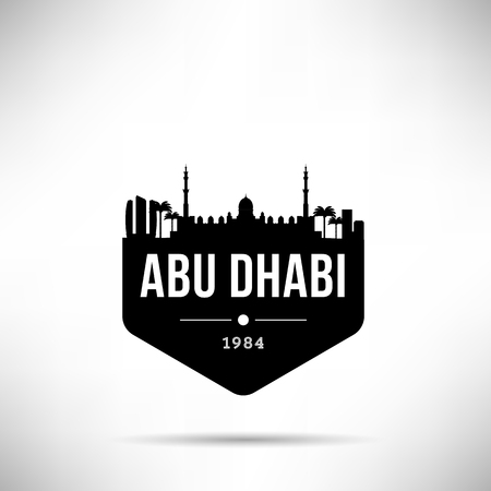 Abu Dhabi City Modern Skyline Vector Template Illustration