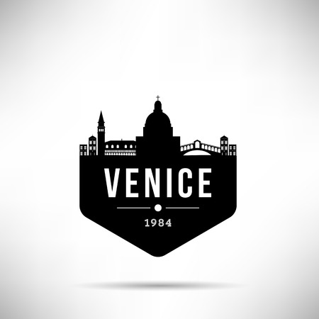 Venice City Modern Skyline Vector Template