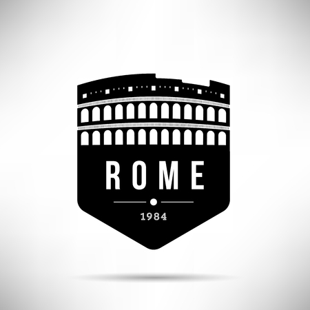 Rome City Modern Skyline Vector Template