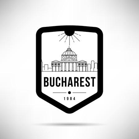 Bucharest Modern Skyline Vector Template