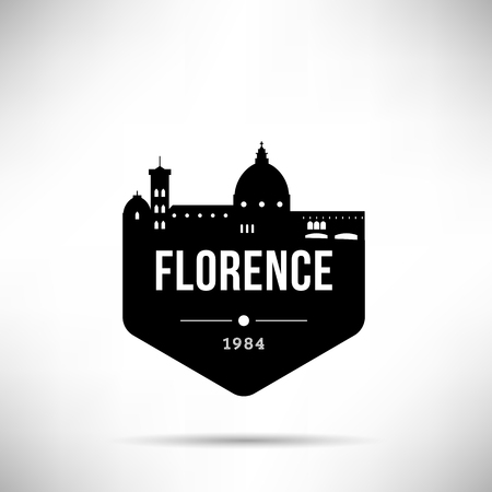 Florence Modern Skyline Vector Template Illustration