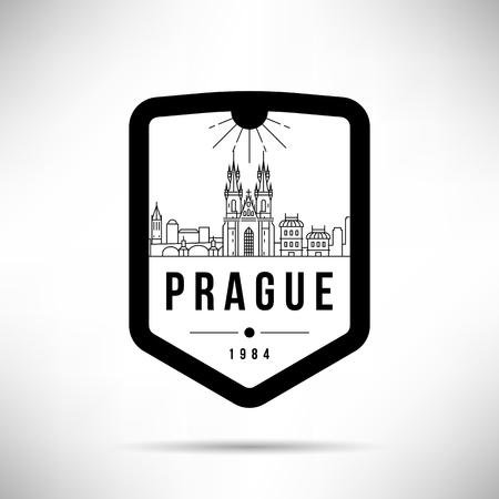 Prague City Modern Skyline Vector Template Illustration