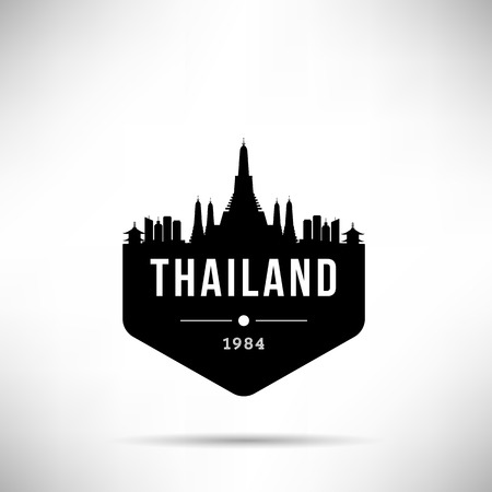 Thailand Modern Skyline Vector Template