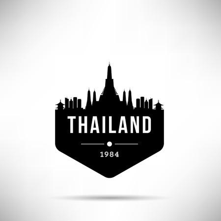 Thailand Modern Skyline Vector Template 스톡 콘텐츠 - 116184053