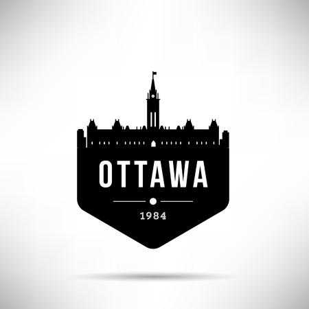 Ottawa City Modern Skyline Vector Template