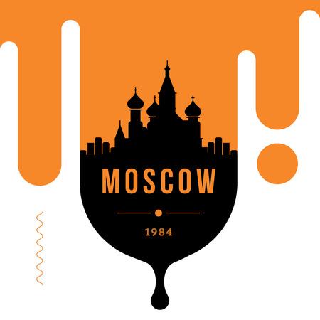 Moskau modernes Web-Banner-Design mit linearer Vektor-Skyline