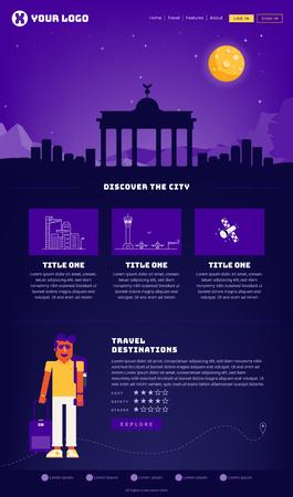 Berlin City Webpage Design Template