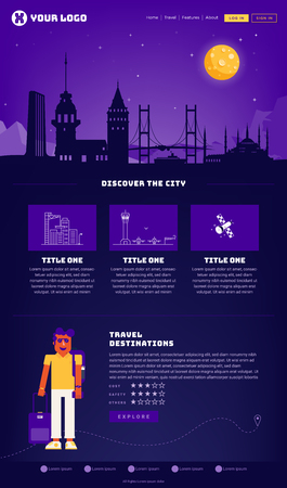 Istanbul City Webpage Design Template