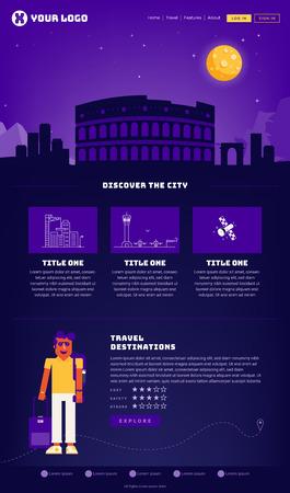 Rome City Webpage Design Template
