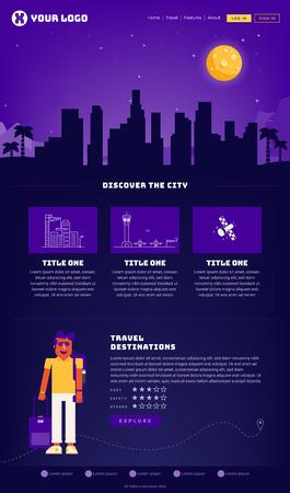 City Webpage Design Template