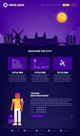 Amsterdam City Webpage Design Template