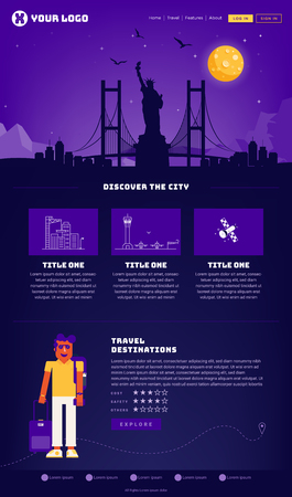New York City Webpage Design Template
