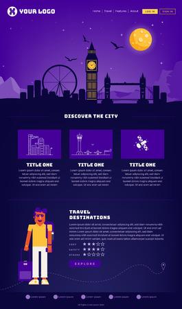 London City Webpage Design Template
