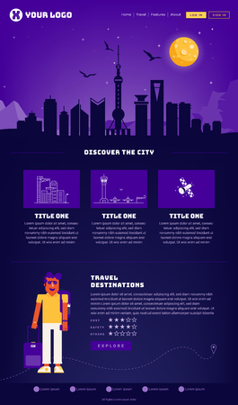 Shanghai City Webpage Design Template