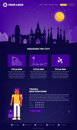 Barcelona City Webpage Design Template
