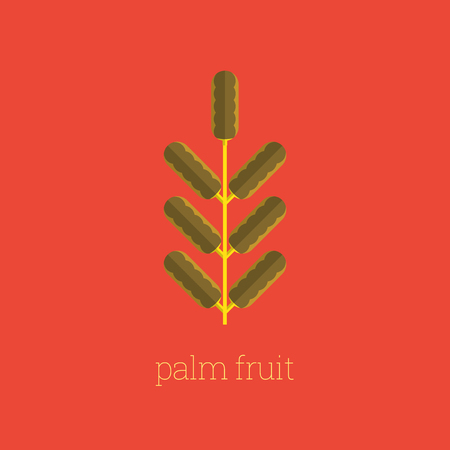 Arabian Palm Fruit Icon Design