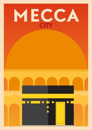 Mecca, Saudi Arabia Poster Design