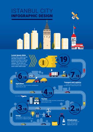 Istanbul City Infographic Template Design Illusztráció