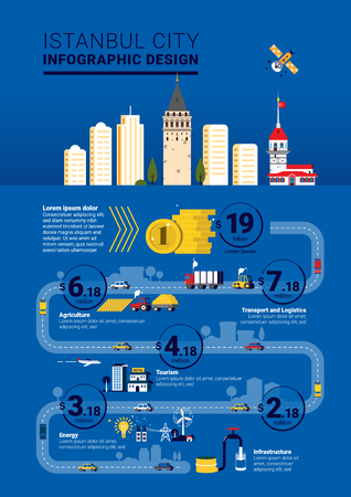 Istanbul City Infographic Template Design Illustration